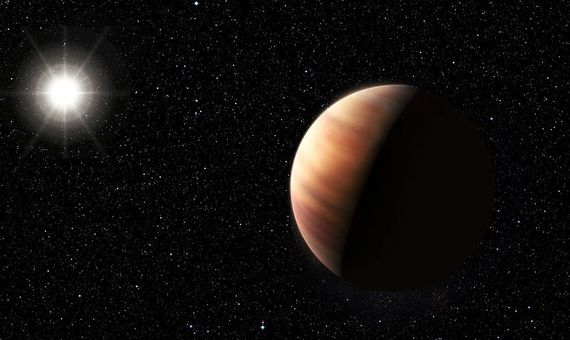 BBVA-OpenMind-planetas como la Tierra en el universo-Exoplanetas 1-El planeta Dimidio, anteriormente conocido como 51 Pegasi b, fue el primer exoplaneta en ser descubierto, un hito que fue reconocido con el Premio Nobel de Física en 2019. Imagen: European Southern Observatory.