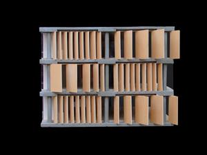 BBVA-OpenMind-Reinventar-la-empresa-Herzog-Diseñar las lamas fue crucial para el desarrollo del proyecto después del concurso. Empezamos trabajando con paneles rectangulares sencillos
