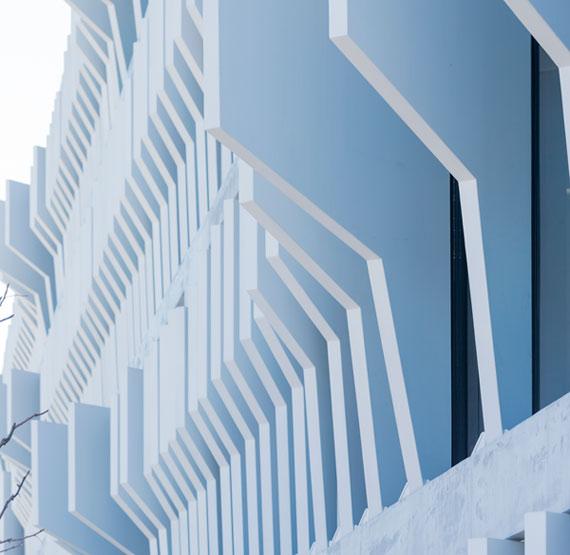 BBVA-OpenMind-Reinventar-la-empresa-Herzog-Estos elementos fijos de una planta de altura se han usado tanto en los edificios nuevas como en las existentes, unificando así lo «viejo» y lo «nuevo»