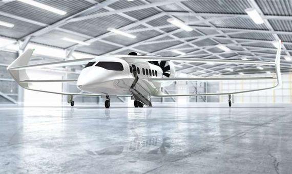 """BBVA-OpenMind-Avion Hibrido 3-La empresa británica Faradair describe su proyecto de avión híbrido como una """"furgoneta volante"""". Crédito: Faradair"""