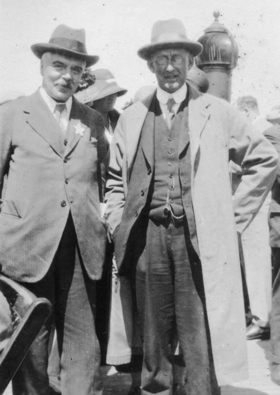 Frank Dyson (left) and Arthur Eddington (right). Credit: AIP Emilio Segrè Visual Archives, W. F. Meggers Collection.