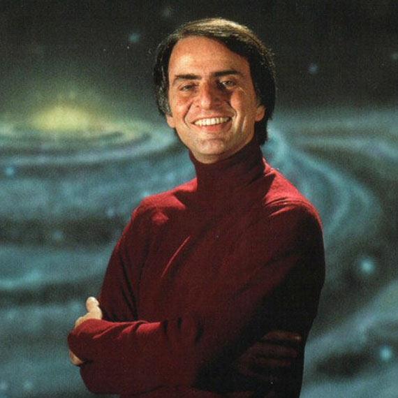 """Carl Sagan en """"Cosmos"""" -Escritor de ciencia ficción"""