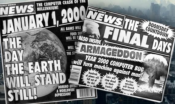"""Las portadas de los diarios sensacionalistas decían: """"¡El día en el cual se parará el mundo!"""" o """"El bug del año 2.000 hará que las máquinas se vuelvan en contra del ser humano"""""""