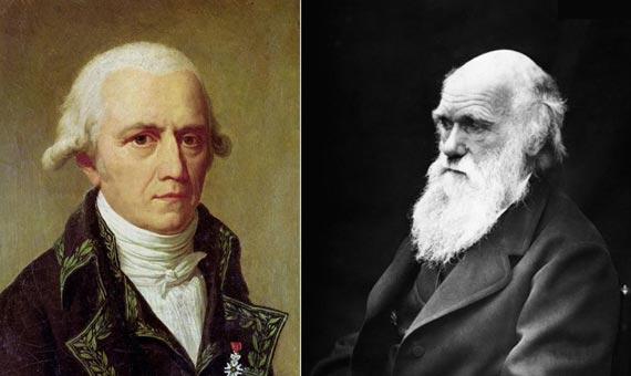 bbva-openmind-ventana-lamarck-Portraits of Jean-Baptiste Lamarck and Charles Darwin. Authors: Charles Thevenin and J. Cameron