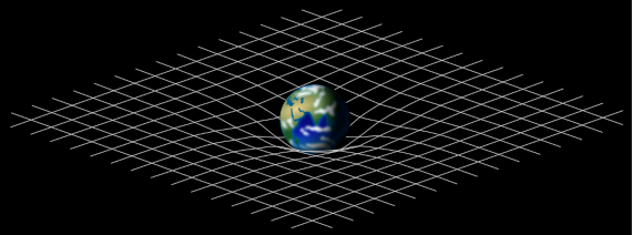 Lattice analogy of the deformation of spacetime caused by a planetary mass. Credit: