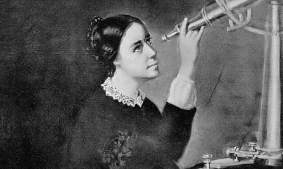 La astrónoma y pionera de los derechos humanos, Maria Mitchell, en un retrato de 1851. Crédito y autor: H. Dassell