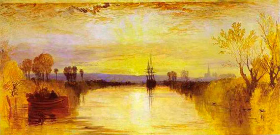 """Chichester canal"", oil on canvas. Author: J.M.W. Turner"