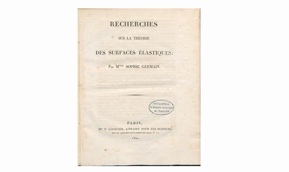 Récherches sur la théorie des surfaces élastiques, 1821. BEIC Foundation.