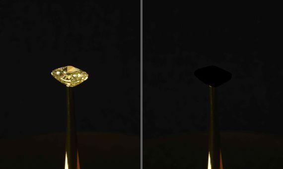 BBVA-OpenMind-Materia-Materiales magicos 8-El material creado por desarrolladores del MIT asegura ser hasta diez veces más negro que cualquier otro material creado y capaz de absorber más del 99,99% de la luz. Imagen: MIT