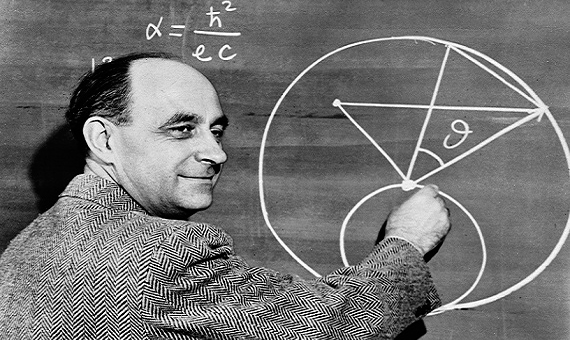 Enrico Fermi, who led the experiments on Chicago Pile-1 leading to the first man-made controlled nuclear reaction. Credit: Argonne National Laboratory.
