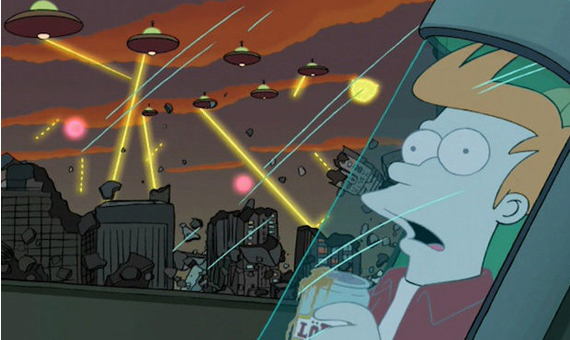 El protagonista de la serie de ciencia ficción Futurama se despierta después de haber estado criogenizado durante 1.000 años. Crédito: Futurama