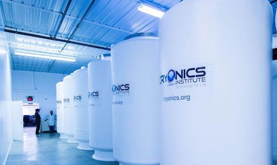 Cámaras de criopreservación del Instituto de Criogenización de Michigan (EE UU). Crédito: Cryonics Institute