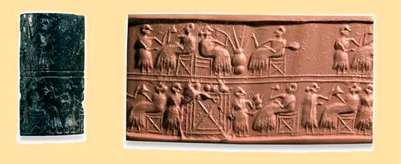 Sumerios y babilonios empleaban pajitas para beber la cerveza. Crédito: sumerianshakespeare.com