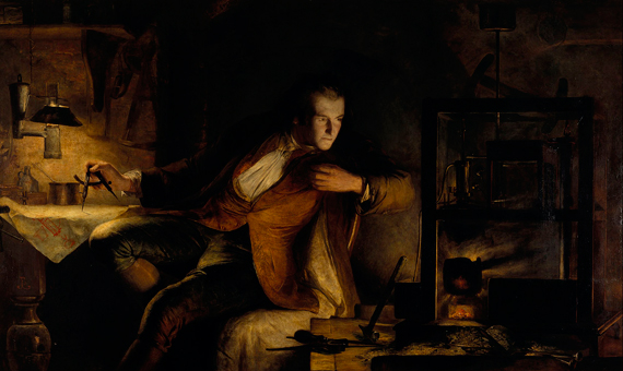 """James Watt y la máquina de vapor: el amanecer del siglo XIX"", un cuadro de James Eckford Lauder (1855). Crédito: Scottish National Gallery"