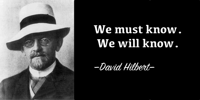 Words in Hilbert's tombstone have turned into a famous inspiring quote.