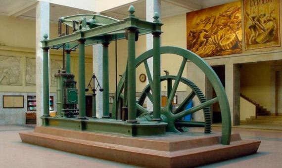 Una máquina de vapor de tipo Watt, construida por D. Napier and Son (Londres) en 1859. Crédito: Nicolás Pérez
