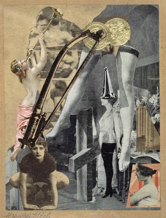 BBVA, OpenMindm, El papel del artista en la evolución de la realidad aumentada, PAPAGIANNIS. Hannah Höch (1889–1978), Dada Ernst (1920-1921) Collage sobre papel, 18,6 x 16,6 cm, The Israel Museum, Jerusalén, Israel Vera & Arturo Schwarz Collection of Dada and Surrealist Art