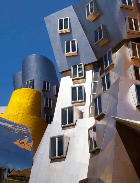 BBVA, OpenMind, El cerebro sensorial aumentado. Cómo conectarán los humanos con el internet de las cosas, Paradiso, Fachada del edificio Ray and Maria State Center del Instituto Tecnológico de Massachusetts (MIT, por sus siglas en inglés), obra del premio Pritzker de arquitectura Frank Gehry