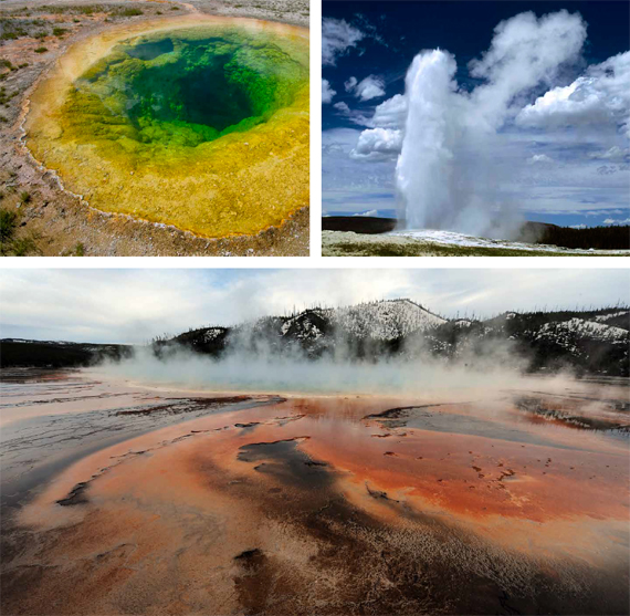 BBVA, OpenMind. Technological Wild Cards: Existential Risk and a Changing Humanity. HÉIGEARTAIGH. Yellowstone National Park (Wyoming, USA) is home to one of the planet's hot spots, where a massive volcanic explosion could someday occur.