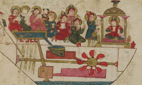 La orquesta de Al-Jazari, uno de los primeros ejemplos de autómatas de la historia. Crédito: Freer Gallery of Art