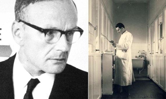 Los pediatras Widukind Lenz y Claus Knapp que revelaron el efecto de la talidomida. Crédito: Wikimedia Commons
