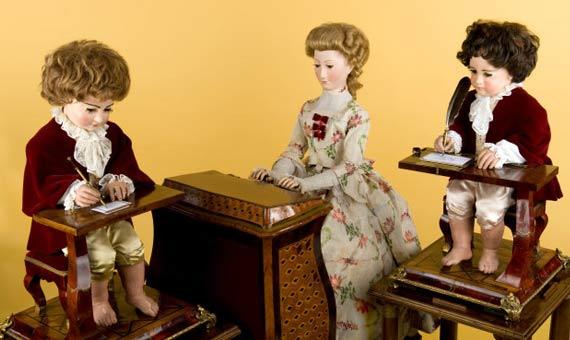 Los tres pequeños autómatas del relojero Jaquet-Droz. Crédito: Museo de Arte e Historia de Neuchâtel