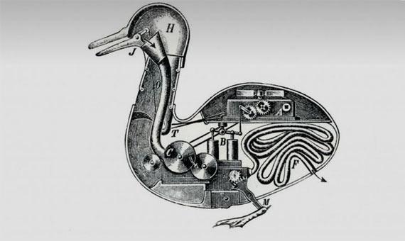 El cisne plateado, el autómata musical icono del Museo de Bowes. Crédito: Andrew Curtis