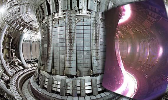 Interior del reactor con forma de rosquilla Joint European Torus (JET). Crédito: EFDA-JET