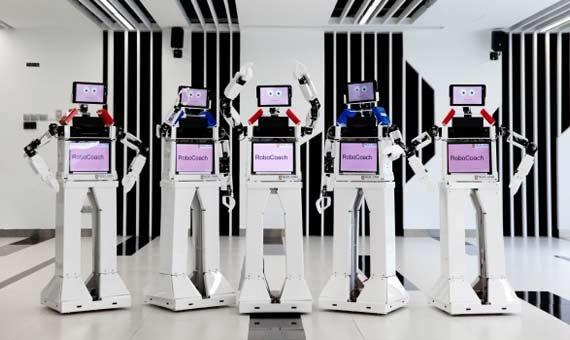 Robocoach, el robot-entrenador de ancianos de Singapur. Crédito: IDA