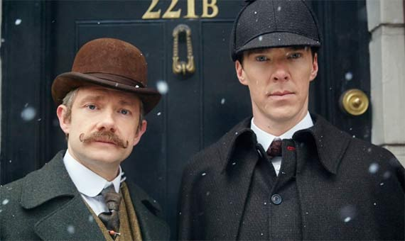 Martin Freeman and Benedict Cumberbatch in Sherlock (2010) / Créditos: Hartswood Films y BBC Wales / Fuente: Imdb