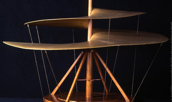 Representación del tornillo aéreo en el Museo Nacional de Ciencia y Tecnología Leonardo da Vinci de Milán. Crédito: A. Nassiri.