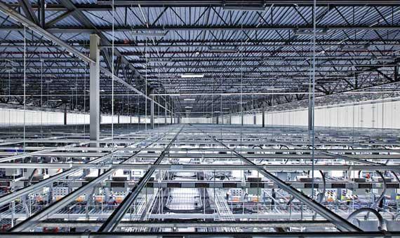 Las instalaciones de 35.000 metros cuadrados del centro de datos de Google en Council Bluffs, en Iowa. Crédito: Google