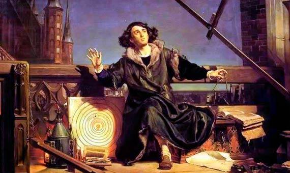 """""""Astrónomo Copérnico, conversacion con Dios"""" (1872), de Jan Matejko: Source: Jagiellonian University Museum."""