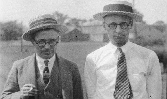 George Washington Rappleyea and John Thomas Scopes, a month before the trial. Credit: Smithsonian Institution