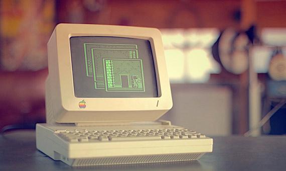 El juego de Batman en el Apple II. Crédito: Matthew Pearce/Flickr