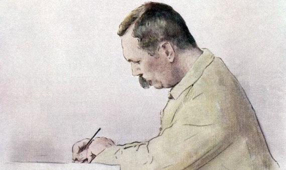 Sir Arthur Conan Doyle. Credit: Mortimer Menpes