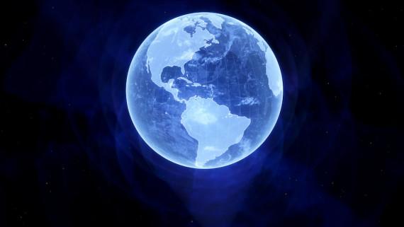 La Tierra, en holograma. Crédito: Kevin Gill