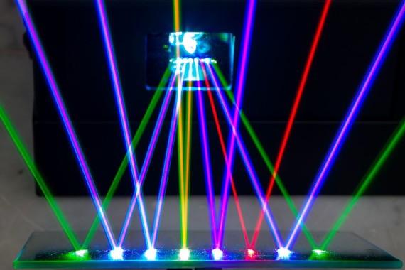 La llegada del láser permitió perfeccionar el método holográfico de Gabor. Crédito: Franck Morisseau