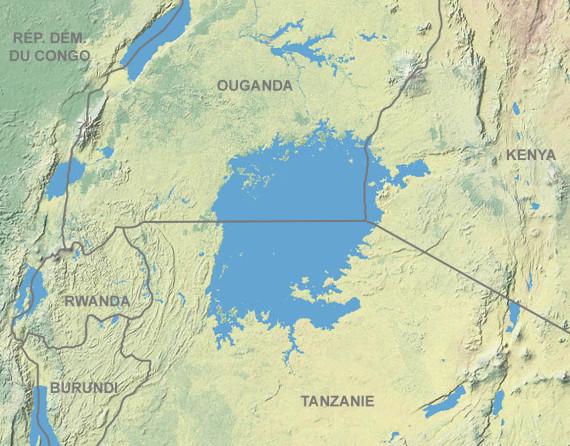 Thomson culminó su viaje a través del país masai en la orilla del lago Victoria. Crédito: Tom Patterson, US National Park Service