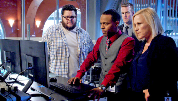 On the right, FBI special agent Avery Ryan with her team. Credit: CSI:Cyber