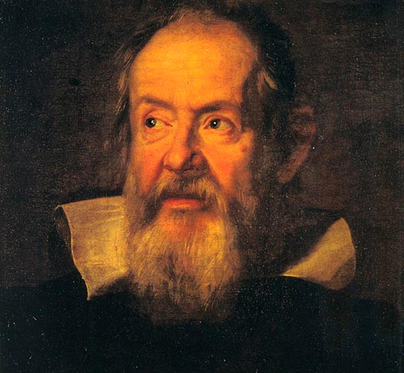 Retrato de Galileo Galilei. Autor: Justus Sustermans