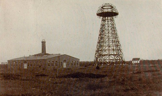 La estación de Wardenclyffe, en Long Island (Nueva York), antes de su finalización. Fuente: Tesla Collection