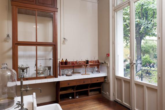 El laboratorio de Marie Curie conserva instrumentos utilizados por la científica. Crédito: Museo Curie.