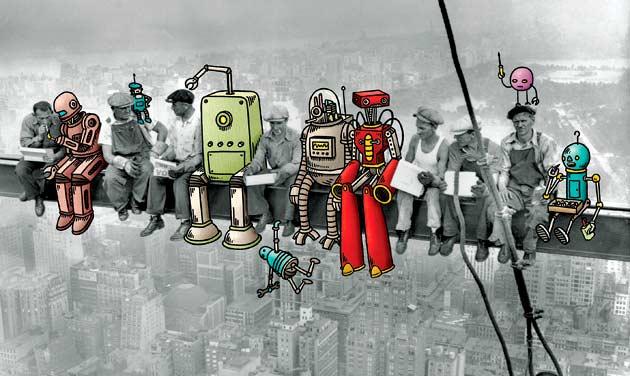 Imagen utilizada en la web de la empresa de selección de personal NATRECANZ para explicar la revolución tecnológica en el mercado laboral / Imagen: NATRECANZ