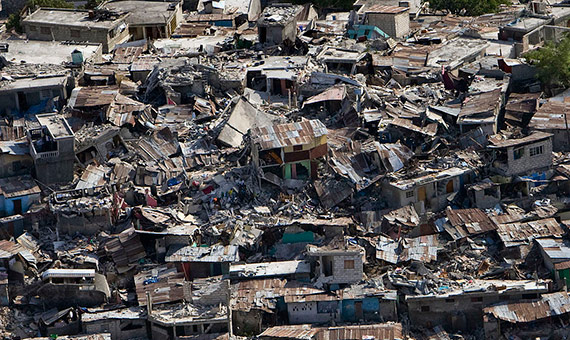 The Mercalli intensity scale was governed by the levels of destruction observed after an earthquake. Credit: UN Photo/Logan Abassi