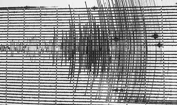 Un terremoto medido por un sismómetro. Crédito: DarTar