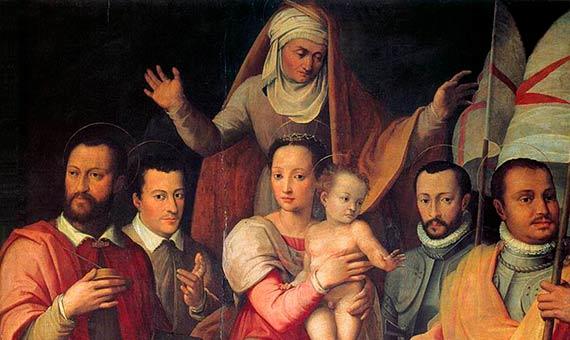 La Virgen y el Niño con Santa Ana y miembros de la familia Medici como santos / Wikimedia