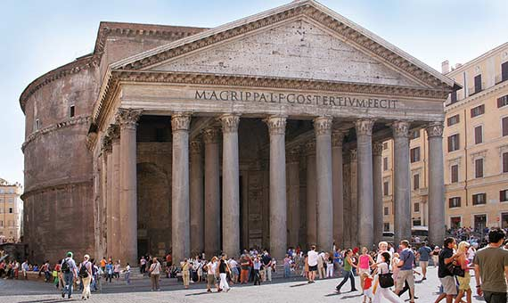 Los romanos utilizaron cenizas y rocas volcánicas para elaborar el hormigón con el que construyeron el Panteón de Roma. Crédito: Roberta Dragan.