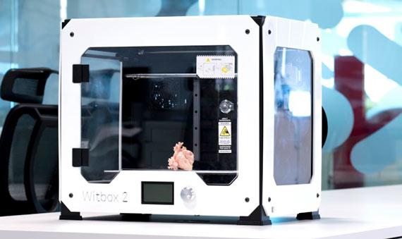 Witbox 2 imprime en 3D réplicas del corazón de cada paciente. Crédito: BQ