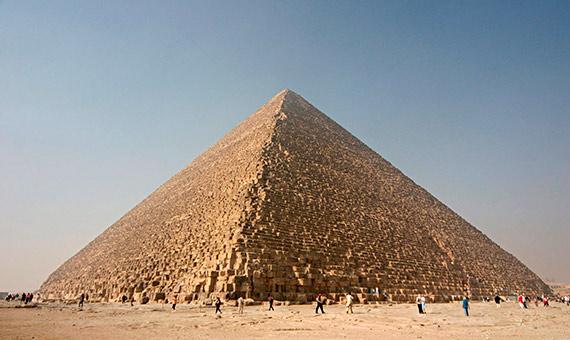 El proyecto internacional ScanPyramids descubrió una cavidad en lo más profundo de la Gran Pirámide de Keops (Khufu). Crédito: Nina Aldin Thune